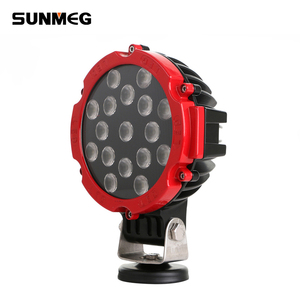 led factory tractor auto parts cars heavy duty led work light 51w ip67 spot flood led work light lamp