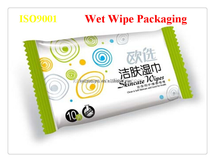 Baby wipes packing pouch for wet wipes packaging