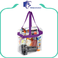 Promotional clear plastic leather tote bags,pvc waterproof beach bags