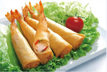 Frozen food Snowboby food shrimp spring roll