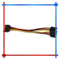 SATA one male to two female cable