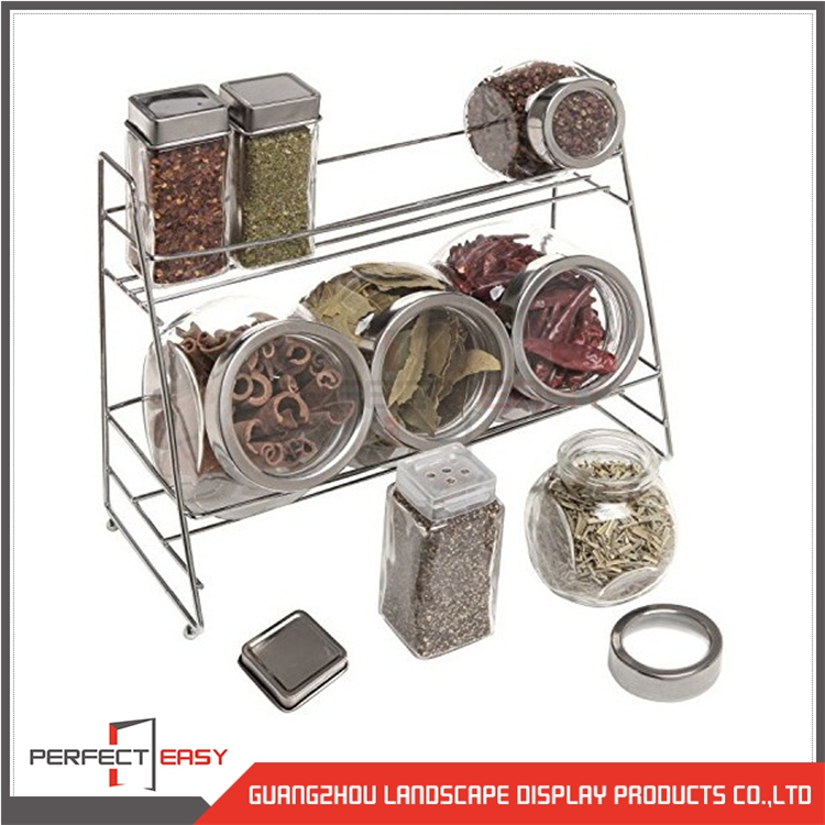Custom made metal wire countertop tea leaves display rack for retail store