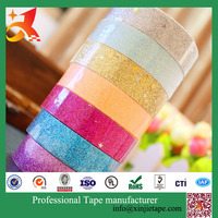 2017Manufacturer china washi tape glitter tape factory