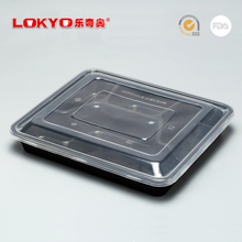 Disposable plastic microwave safe food container 4 compartments