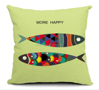 2015 china Wholesale Factory Directly of Fashion classic much fish much happiness cotton pillow cases