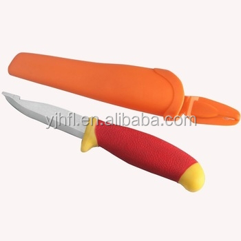 Plastic 2 colorful metal knife