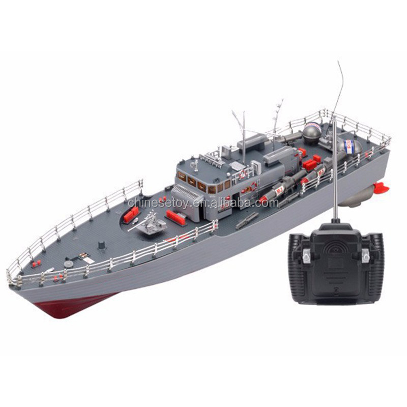 Torpedo Model Ship Bismark High Power Simulation Guided Missile Destroyer Led Light Electronic Warship Toys RC Boat