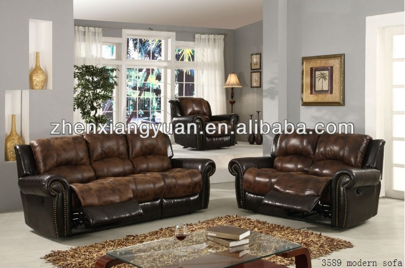European Style Regional And Home Furniture General Use Recliner Sofa
