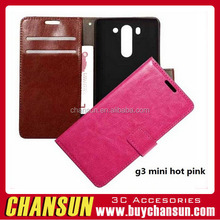 Alibaba new Design Mobile Phone Wallet cover for LG G3 MINI Leather Case Magnetic Flip Phone case with card slot