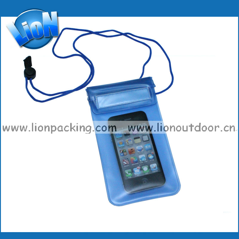 Transparent PVC Waterproof Phone Case With Shoulder Strap For Samsung Phone Waterproof Bag