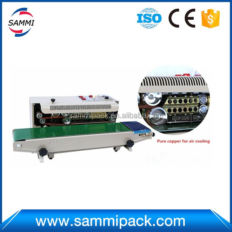Hot selling normal continuous band sealing coding machine
