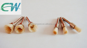 miniature bristle and nylon wire dental brushes