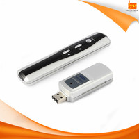 USB charging plastic wirless 15m presentation laser pointer for projector
