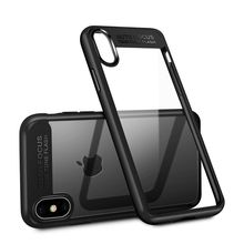 New Design TPU Bumper Acrylic Back Hybrid Shockproof Phone Case For IPhone 5 6 7 8 Plus X