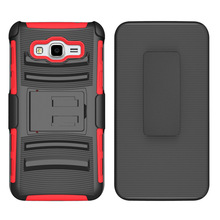 2018 Hot belt clip dual layer tpu pc combo shockproof slim hard armor case for samsung galaxy grand prime g530 cover