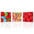 Wall Art 3 Pieces I Love Sweet Candies Canvas Art Print Bon Appetite Wall Picture for Candy Store Children's Room Decoration