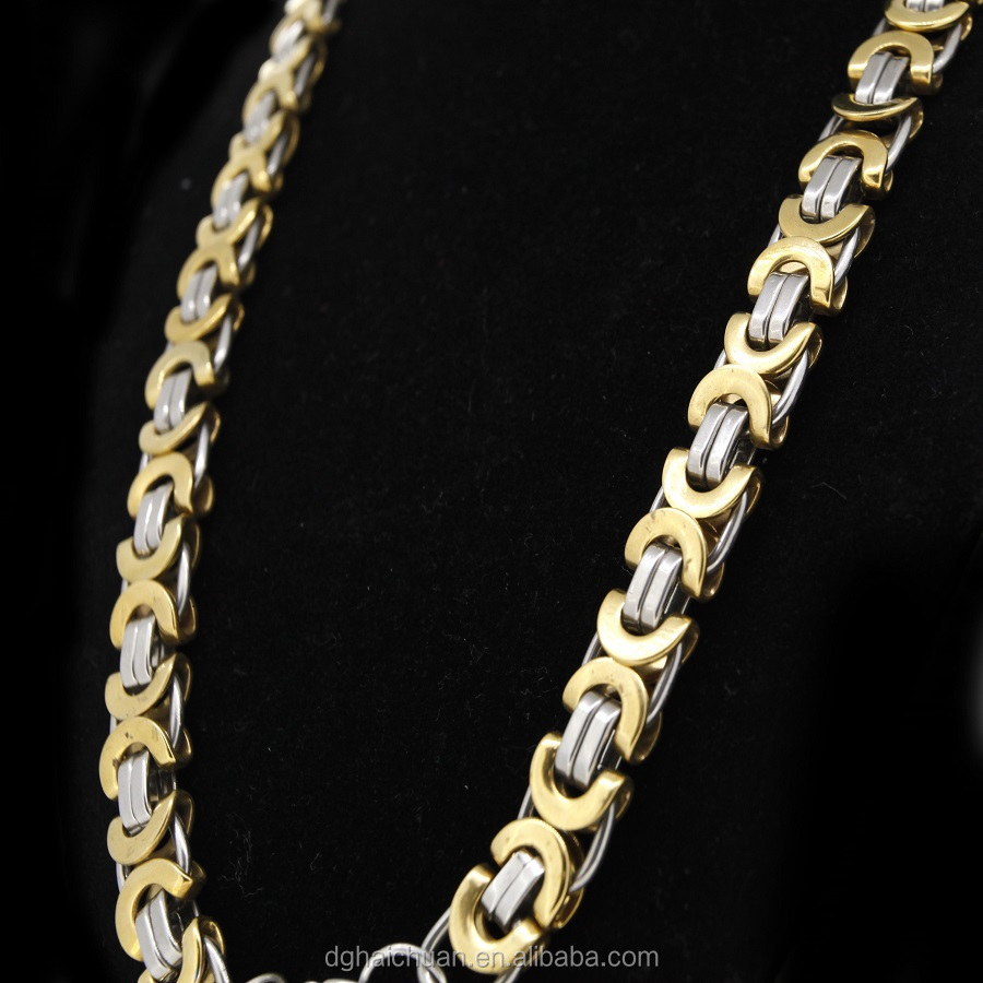 Wholesale Cheap chunky initial chain necklace fashion jewelry 2015 in metal