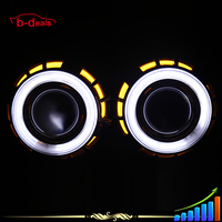 B-deals 2.5inch 35W H4 dual color angel eyes H1 aes h7 hid bi xenon projector lens light