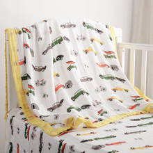 Soft Cotton 6 layer Muslin Wrap Blanket Kids Wholesale Newborn Blanket Baby Swaddle Sleeping Blankets