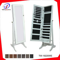HOT SELL ECO-more mirrored jewelry cabinet/Jewelry armorie