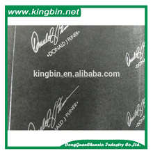 Cheap 17gsm bulk wholesale custom gray logo printing on black wrap tissue paper