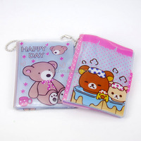 Transparent clear cute pvc pencil bag,vinyl pencil pouch