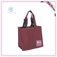 Customized Cheap Recycled Non Woven 6 Bottles Wine Cooler Tote Bag