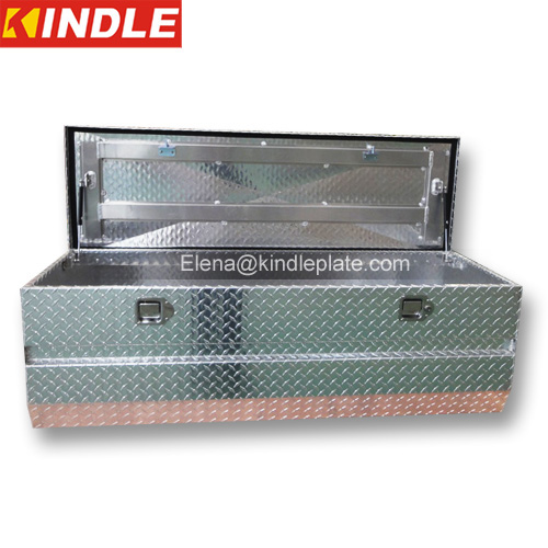 Camper Trailer Portable Aluminum Diamond Plate Metal Tool Box For Truck