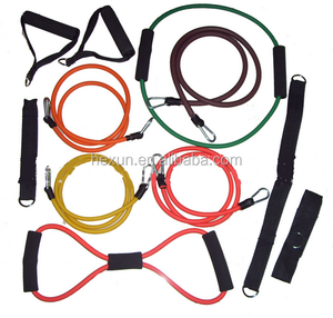 Fashion style fitness equipment body expander set,sport gym muscle yoga slimming building tool,training pull rope