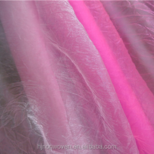 pink ruffled organza fabric for christmas flower wrapping