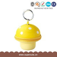 New Customized yellow color small key bag