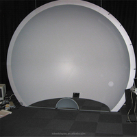 Acrylic plastic half dome projection screen