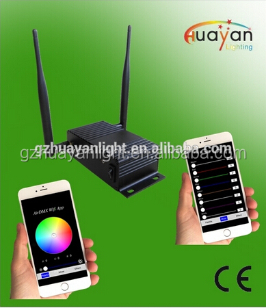 Wifi box for 6*12W led flat par light Bar KTV disoc light Audio Waterproof wifi transmitter for Par light