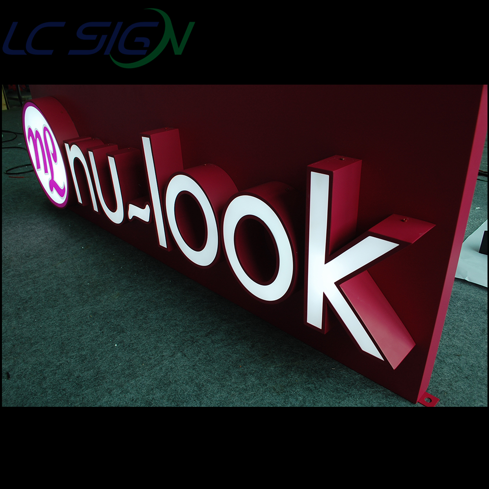 Best selling sign company names building signs 3d mirror stainless steel