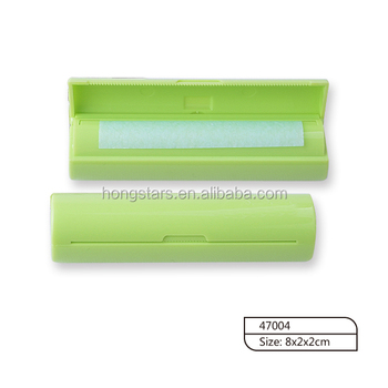 Fresh green color PS case with printing oil absorbing sheet for makeup use