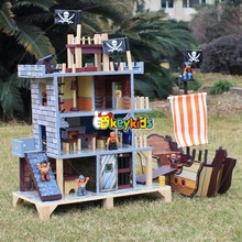 2017 Wholesale pirate doll house wooden toys for boys top fashion wooden toys for boys best design wooden toys for boys W06A162