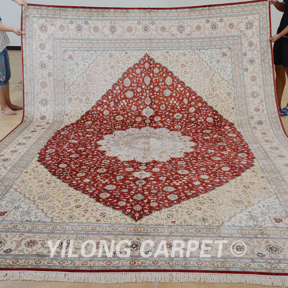 yilong 9x12 bright red medallion oriental - Carpets For Sale