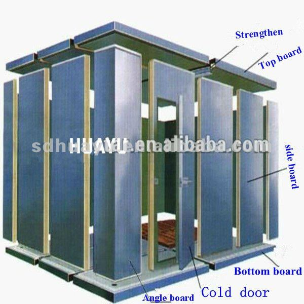 pu pvc stainless steel cold room for meat and fish
