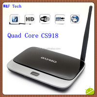 Wholesale WiFi Antanna Smart Android 4.2 tv box CS918 Preinstalled XBMC rk3188 quad core android tv box vga