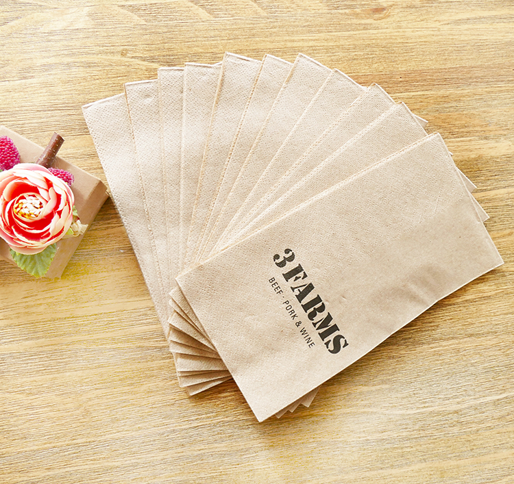 Super Soft Recycled 1/8 Fold 5 Star Hotel Napkins