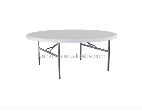Top grade rould plastic folding table for event and hospitality