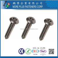 Made in Taiwan Carbon Steel Zinc Plated Torx Drive Pan Head Self Tapping Screws