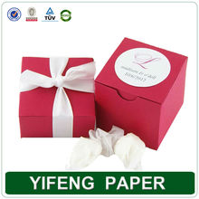 wholesale paper ribbon sweet laser cut red wedding favor boxes