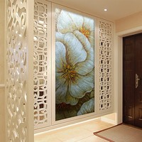 SMM04 new country style flower design wallpaper for bedroom wall mural artist