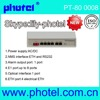 4E1+4ETH PDH mux with SFP module ethernet over pdh
