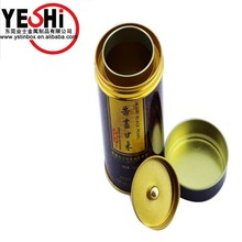 Food Grade Round Tin Cans with double metal layer lid for tea wholesale