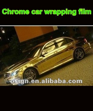 Chrome mirror gold car wrapping vinyl film