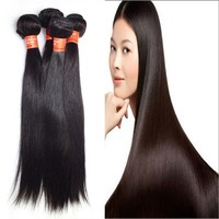 Hot Selling Wholesale 100% Human Hair, Beautiful Straight Unprocessed Virgin Brazilian Hair Extension