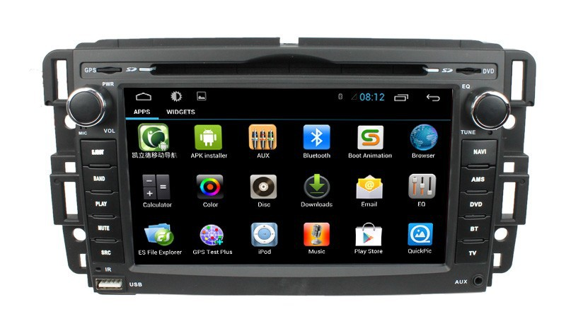 Android 4.2.2 Car DVD with gps for Buick Enclave 2008 2009 with capacitive screen dual core CPU 1G RAM