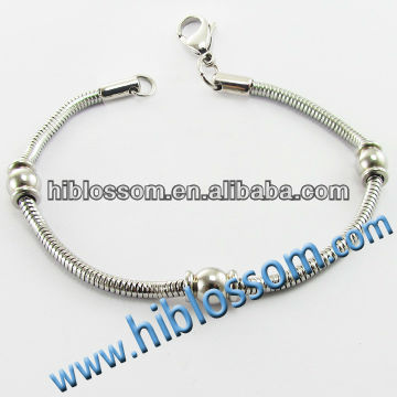 stainless steel lobster clasp snake chain bracelet